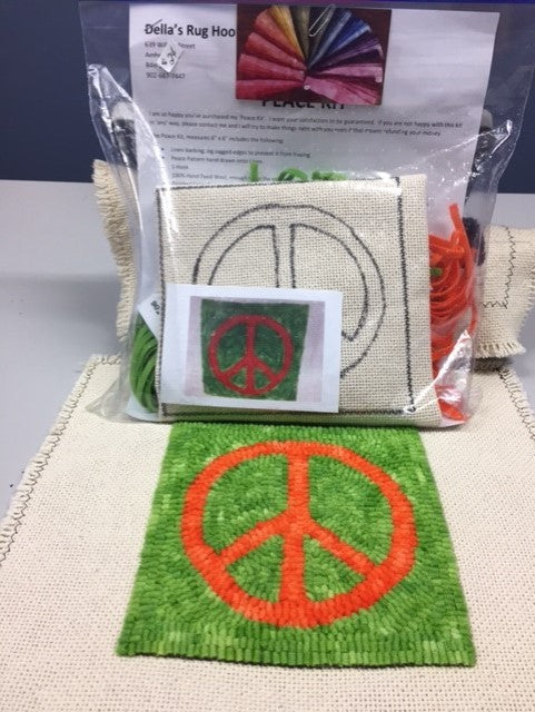 Peace, Rug Hooking Kit