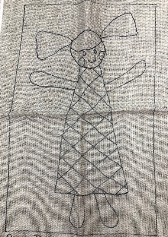 Rag Doll, Rug Hooking Pattern