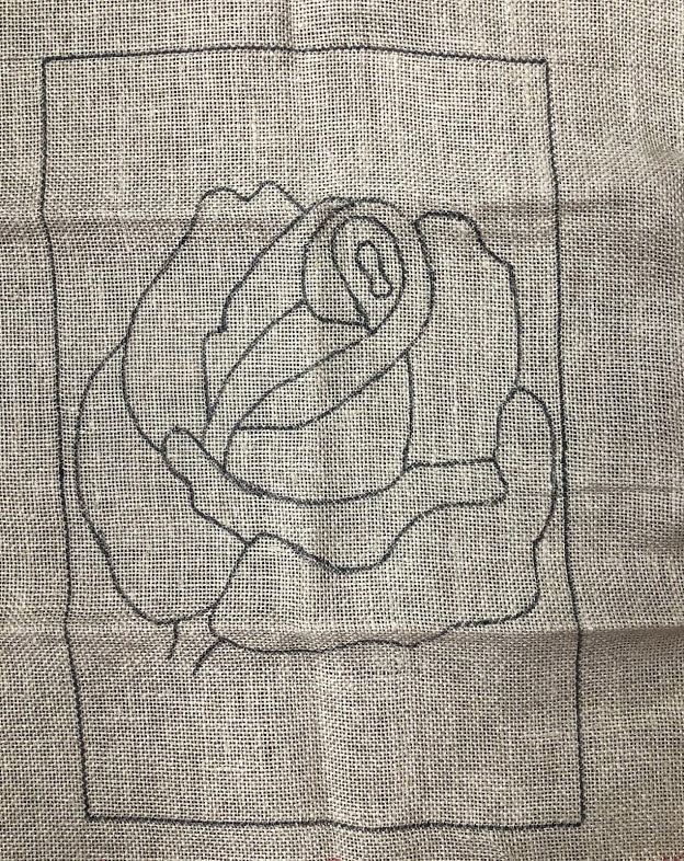 Rose, Rug Hooking Pattern