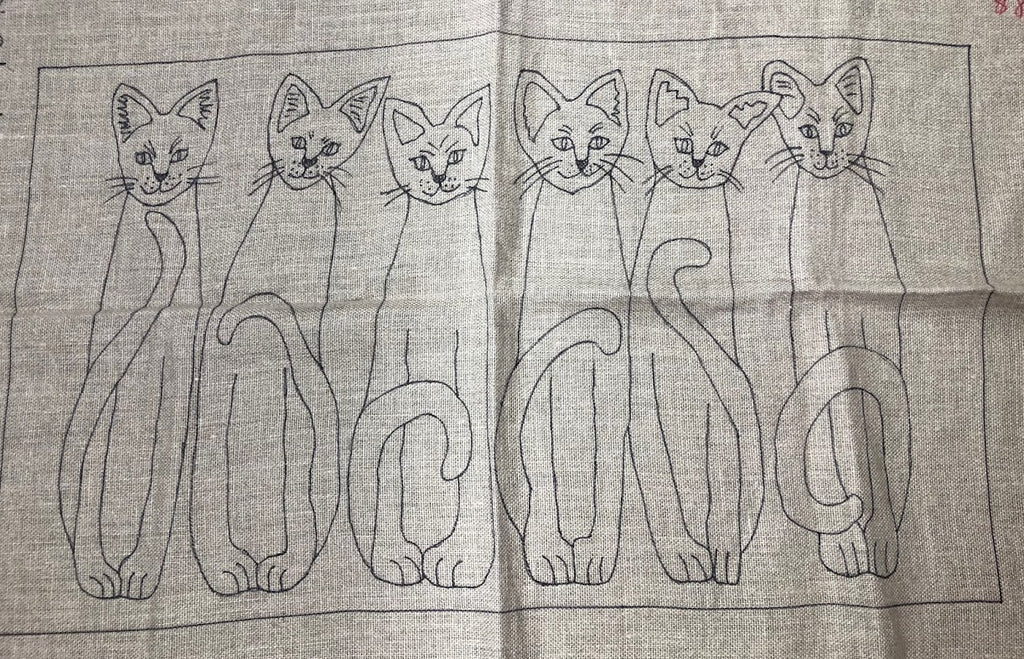 Six Cats, Rug Hooking Pattern