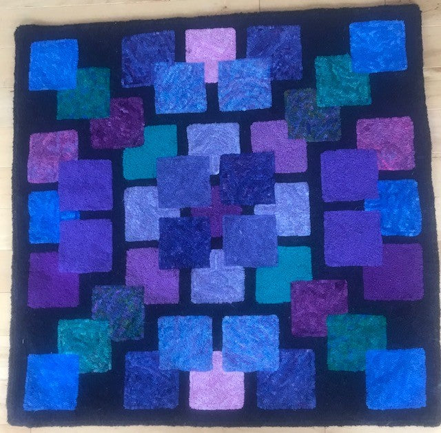 Della's Blocks, Rug Hooking Pattern