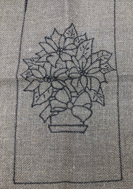Xmas Pot, Rug Hooking Pattern