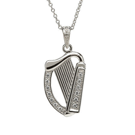 Sterling silver celtic cubic zirconia harp pendant online celtic sterling silver celtic cubic zirconia harp pendant aloadofball Gallery