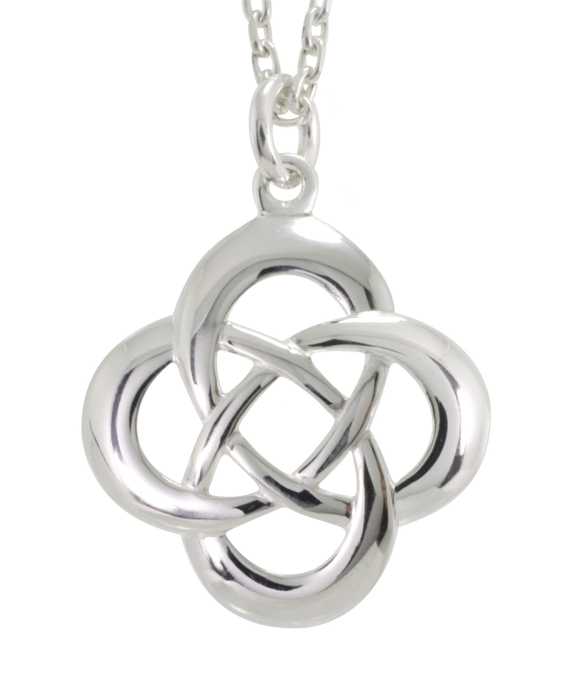 az triquetra knot pmr trinity inch silver bling necklace jewelry pendant sterling celtic