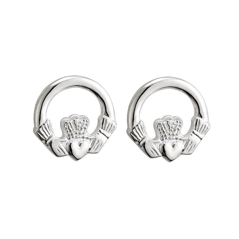 a earrings claddagh solvar stud of canada bit home