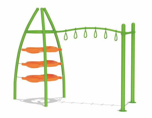 Kids Outdoor Monkey Bars With Trapeze Swing Bar Rings 350cm GOLD-16031