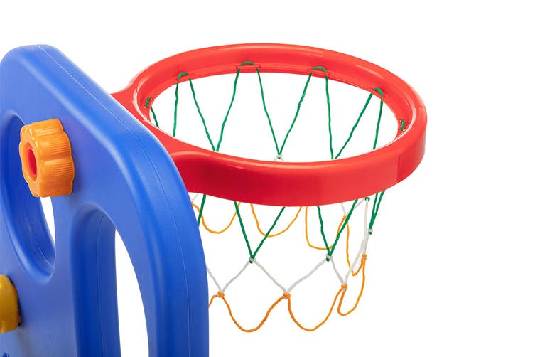 Kids' Indoor Plastic Slide Set With Basketball Hoop SHA-XRD-1B4684