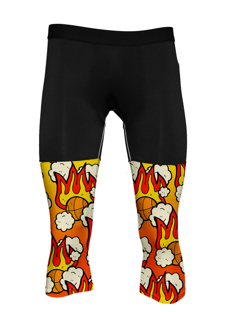 FIRE | 3/4 Compression Tights