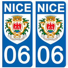 Upload image to gallery, Stickers for AUTO and MOTORCYCLE license plates - 06 NICE