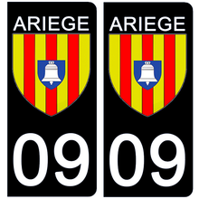 Upload image to gallery, Stickers for AUTO and MOTORCYCLE license plates - 09 ARIEGE