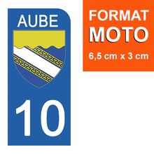 Load the image in the gallery, Stickers for license plate AUTO and MOTO - 10 AUBE