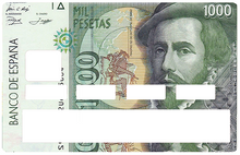Upload the image to the gallery, 1000 pesetas