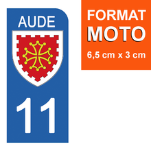Upload image to gallery, Stickers for AUTO and MOTORCYCLE license plates - 11 AUDE