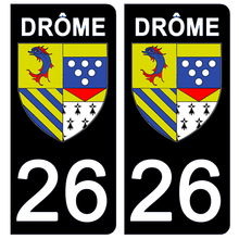 Load the image in the gallery, Stickers for license plate AUTO and MOTO - 26 DRÔME