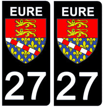 Upload image to gallery, Stickers for AUTO and MOTORCYCLE license plates - 27 EURE