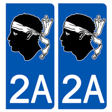 Load the image in the gallery, Stickers for license plate AUTO and MOTO - 2A CORSE