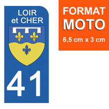 Load the image in the gallery, Stickers for license plate AUTO and MOTO - 41 LOIR and CHER