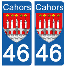 Load the image in the gallery, Stickers for CAR and MOTORCYCLE license plates - 46 LOT CAHORS
