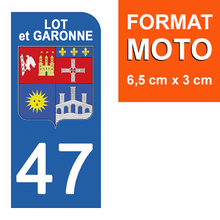 Load the image in the gallery, Stickers for license plate AUTO and MOTO - 47 LOT and GARONNE
