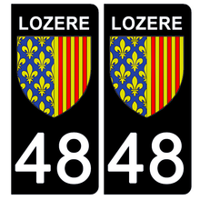 Load the image in the gallery, Stickers for license plate AUTO and MOTO - 48 LOZERE