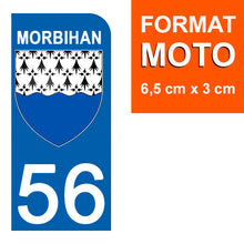 Load the image in the gallery, Stickers for AUTO and MOTO license plate - 56 MORBIHAN