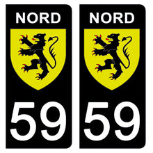 Load the image in the gallery, Stickers for license plate AUTO and MOTO - 59 NORD