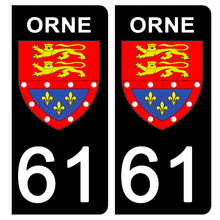Upload image to gallery, Stickers for AUTO and MOTO license plate - 61 ORNE
