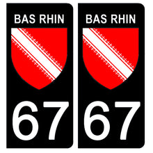 Load the image in the gallery, Stickers for license plate AUTO and MOTO - 67 BAS RHIN
