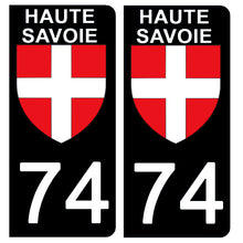 Load the image in the gallery, Stickers for CAR and MOTORCYCLE license plates - 74 HAUTE SAVOIE