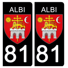 Load the image in the gallery, Stickers for license plate AUTO and MOTO - 81 TARN, ALBI