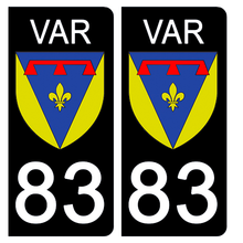 Upload image to gallery, Stickers for AUTO and MOTO license plate - 83 VAR