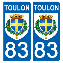 Load the image in the gallery, Stickers for license plate AUTO and MOTO - 83 VAR, TOULON