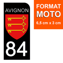 Load the image in the gallery, Stickers for CAR and MOTORCYCLE license plates - 84 VAUCLUSE, AVIGNON