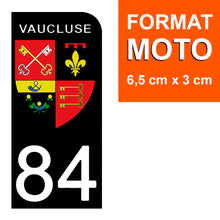 Load the image in the gallery, Stickers for CAR and MOTORCYCLE license plates - 84 VAUCLUSE