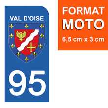 Load the image in the gallery, Stickers for CAR and MOTORCYCLE license plates - 95 VAL D'OISE