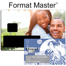 Upload the image to the gallery, Personalized sticker for credit card, Type Master, with your favorite image