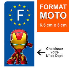 Upload image to gallery, MOTO EUROBAND - IRONMAN license plate sticker - blue or black