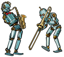 Upload the image to the gallery, the robot musicians