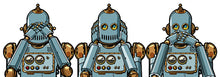 Upload the image to the gallery, the 3 robots, see nothing, hear nothing, say nothing