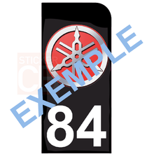 Upload image to gallery, Personalized stickers for MOTO license plates, Dept. Black