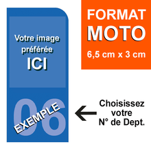Upload image to gallery, CUSTOMIZE your MOTORCYCLE license plate sticker