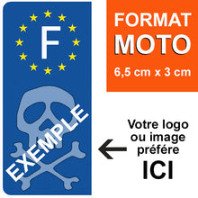 Load the image in the gallery, Personalize your sticker for MOTO EUROBAND license plate - Blue or Black