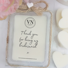 Load image into Gallery viewer, THANK YOU FOR BEING MY BRIDESMAID... WAX MELT CLAMSHELL