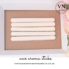 Load image into Gallery viewer, RHUBARB & ROSE 5 x Plain Wax Aroma Sticks