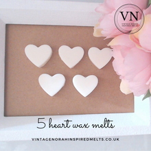 Load image into Gallery viewer, Fresh Unstop 5 Heart Wax Melts - PLAIN