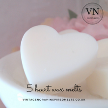 Load image into Gallery viewer, Rhubarb & Ginger 5 Heart Wax Melts - PLAIN