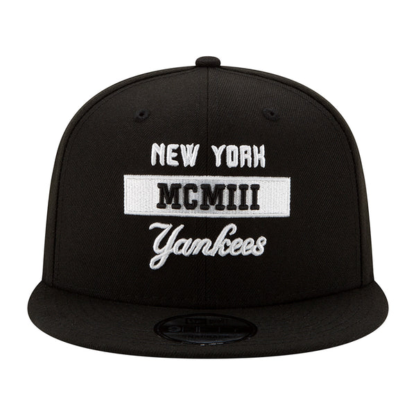 Men's New Era Yankees Navy Stack 9FIFTY Snapback Adjustable Hat
