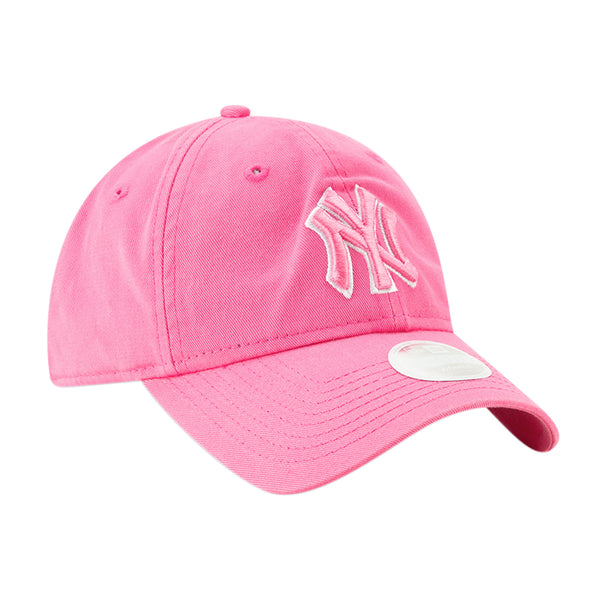 Women's New Era Yankees Pink Clutch Pop 9TWENTY Adjustable Hat