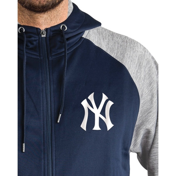 Men's New Era Yankees Navy Full-Zip Sweatshirt