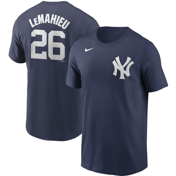 Men's Nike Yankees Navy DJ LeMahieu Name & Number T-Shirt
